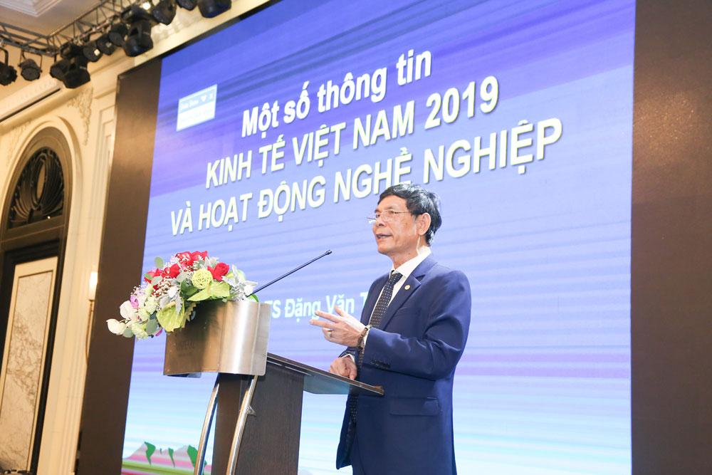 PGS.TS Đặng Văn Thanh, Chủ tịch Hội Kế toán và Kiểm toán Việt Nam chia sẻ về thông tin kinh tế trong nước và quốc tế 9 tháng đầu 2019